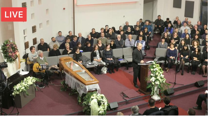 ACUM LIVE VIDEO: Serviciu Divin Inmormantare – Fratele Eugen Oniga