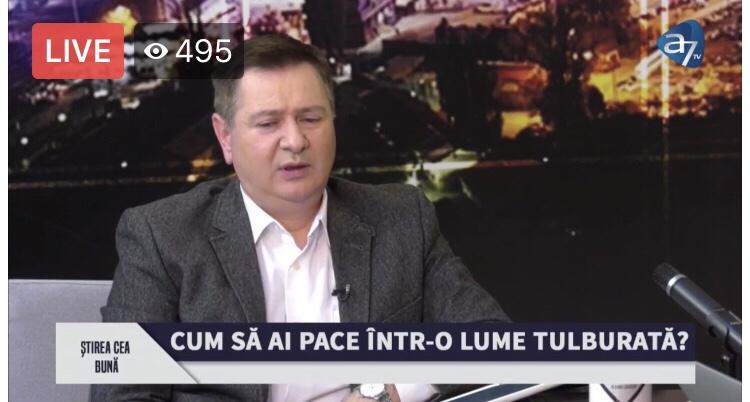 Acum LIVE VIDEO: Florin Ianovici, pastor Biserica Renovatio, CUM SĂ AI PACE ÎNTR-O LUME TULBURATĂ? – o dezbatere foarte interesantă