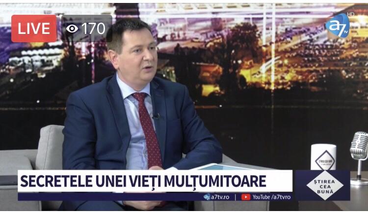 ACUM LIVE VIDEO: ȘTIREA CEA BUNĂ – Florin Ianovici. CUM SĂ AI O INIMĂ MULȚUMITOARE?